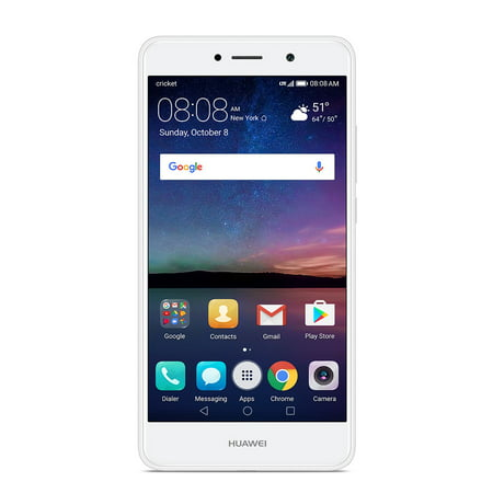 Cricket Wireless Huawei Elate 16GB Prepaid Smartphone, White