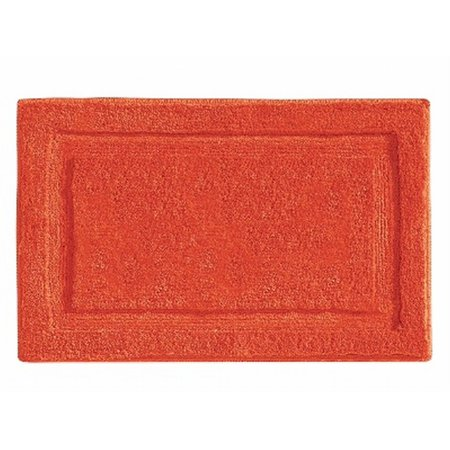 Chaps Lawton Pumpkin Orange Plush Pile Throw Rug 25x40