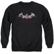 Arkham City Bat Fill Mens Crewneck Sweatshirt
