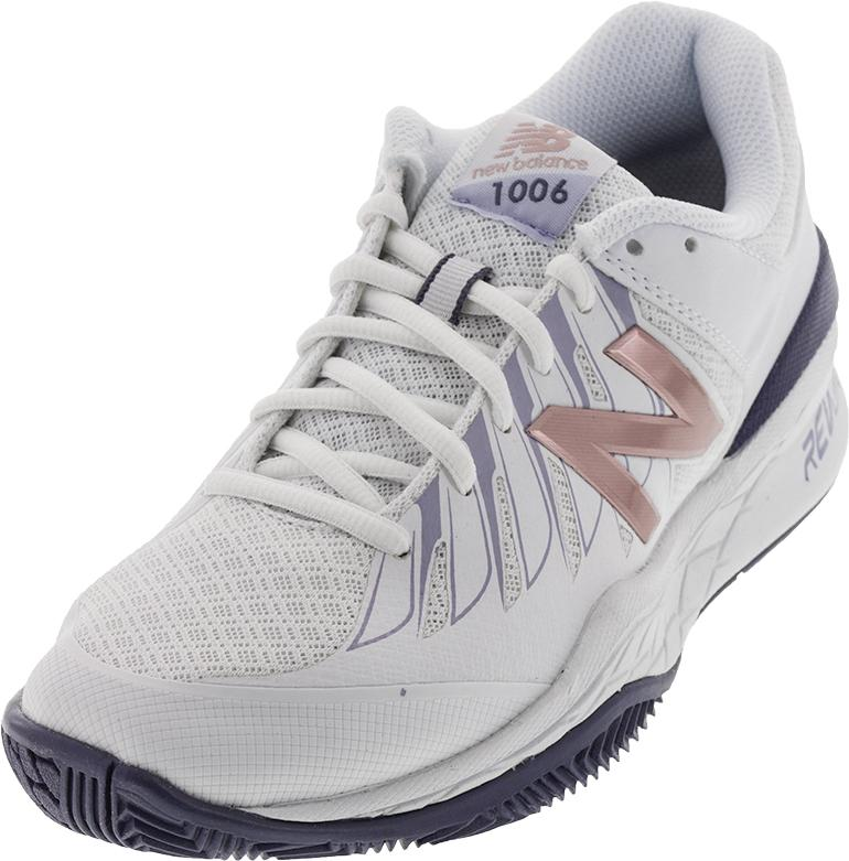 Women`s 1006v1 2A Width Tennis Shoes White and Deep Cosmic Sky