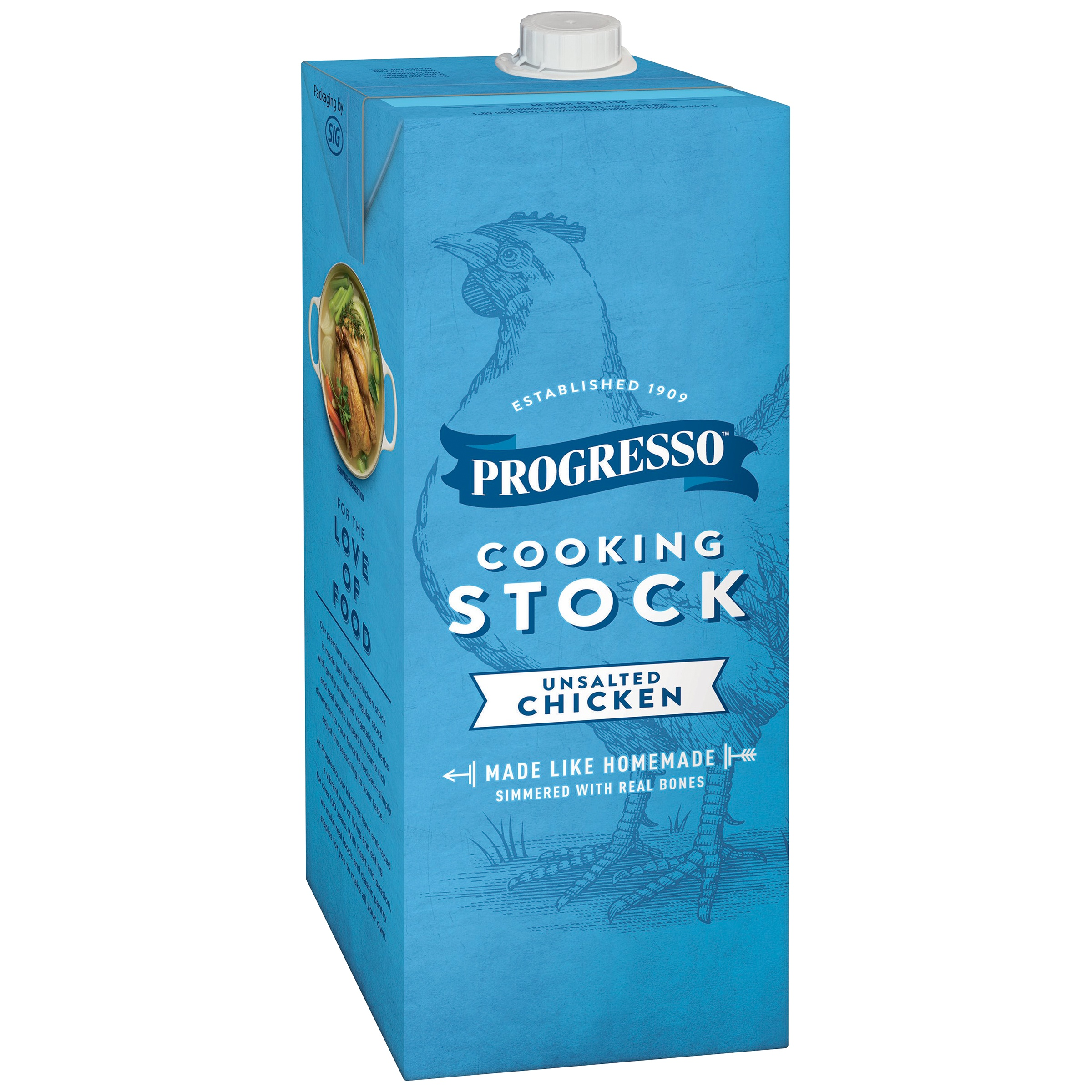 Progresso™ Unsalted Chicken Stock 32 oz Aseptic Pk