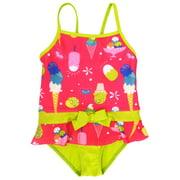 Pink Platinum Baby Girls Ice Cream One Piece Swimsuit