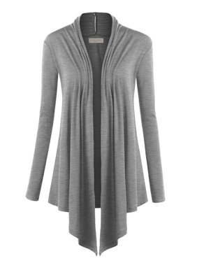 8af9fe8ace750 Product Image MBJ Womens Draped Open- Front Cardigan ( S - XXXL )