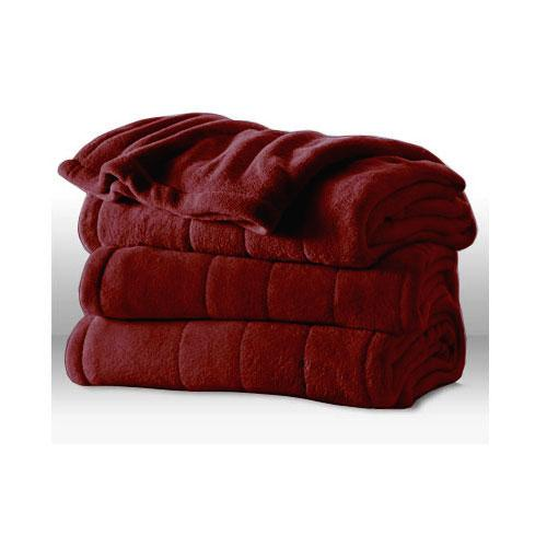 Sunbeam Channeled Microplush Electric Heated Blanket - Twin Full Queen King Size