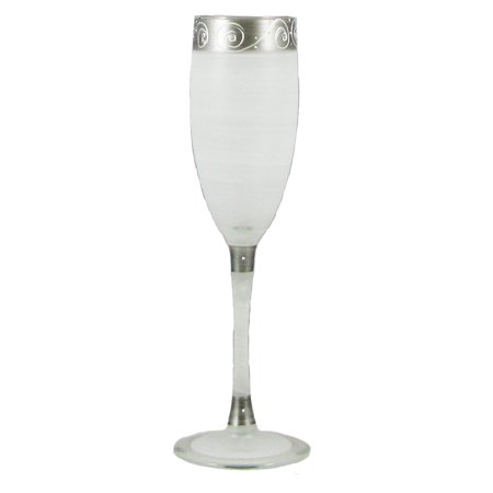 5.75 Ounce Glass - Set of 2 Swirls and Dots Hand Painted Champagne Drinking Glasses - 5.75 Ounces