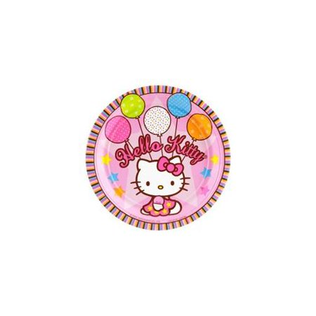 Hello Kitty Birthday Party Invitations - Hello Kitty Party Cake Plates (8-pack) - Party Supplies