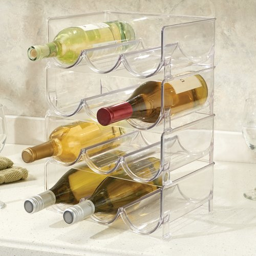 InterDesign Fridge Binz Stackable 3 Wine Bottle Rack
