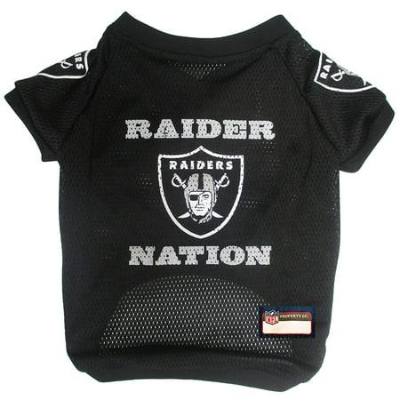 NFL Raider Nation Raglan Mesh Pet Jersey, Medium, Officially NFL licensed! - Raglan mesh jersey with neck and sleeve trim for maximumWalmartfort By Pets First