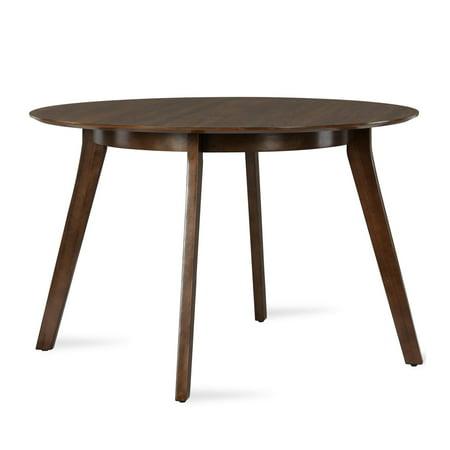 Novogratz Henley Mid-Century Round Dining Table, Walnut