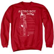 Astro Boy Schematics Mens Crewneck Sweatshirt