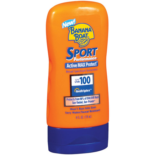 Banana Boat Sport Performance Sunscreen Lotion SPF 100, 4 oz