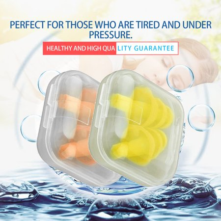 A Pair Silicone Ear Plugs Anti Noise Snore Earplugs Noise Reduction for Study - image 5 de 11