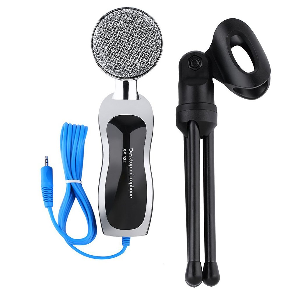 Hot!!T-mack New SF922 Condenser 3.5mm Audio Jack Microphone Mic Sound Recording Wired Home Radio Studio Broadcasting For PC lapt op Computer