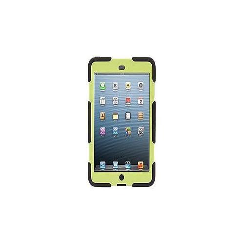 Griffin Survivor - Protective case for tablet - silicone, polycarbonate - black/citron - for Apple iPad mini