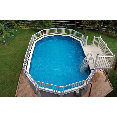 Vinyl Works Deluxe 24-in In-Pool Step for Above Ground Pools - Taupe ...