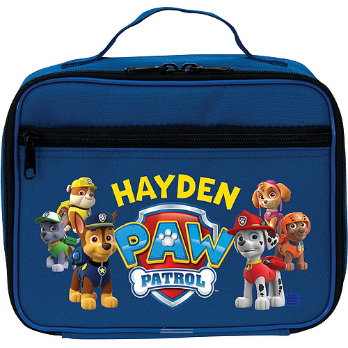 Personalized PAW Patrol Puptastic Blue Kids Lunch Bag