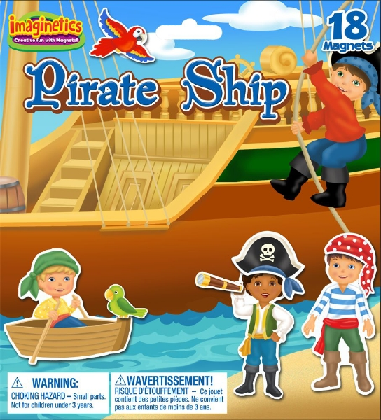 Imaginetics Pirate Ship Magnetic Playboard Small