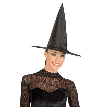 Adult Black Taffetta Witch Hat Rubies 49463 (Girls Witch Hat)