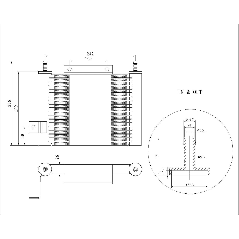 Automatic Transmission Oil Cooler Assembly for Ford Explorer, Ranger