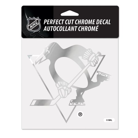6X6 CHROME DECAL PITTSBURGH PENGUINS