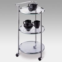 Neu Home Round Bar and Serving Cart, Chrome