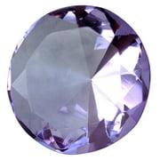 Big 60mm Crystal Purple Lavendar 60 mm Cut Glass Giant Diamond Jewel Paperweight