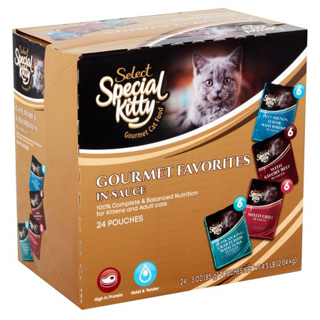 (2 pack) Special Kitty Select Gourmet Favorites in Sauce Cat Food, 3 oz, 24 count