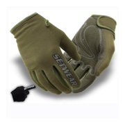 Stealth Medium Gloves, Green, Machine Washable Light Duty Work Glove Ultra Dexterity Hook   Loop Clo