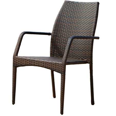 Brown Outdoor Wicker Chairs (Set of 2) ()