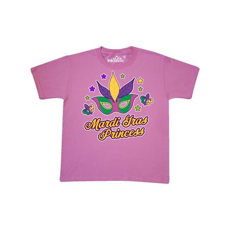 Mardi Gras With Mask And Stars Youth T-Shirt Kids Its New - Mardi Gras Kit