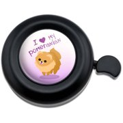 I Love Heart My Pomeranian Golden Pink Dog Pet Bicycle Handlebar Bike Bell