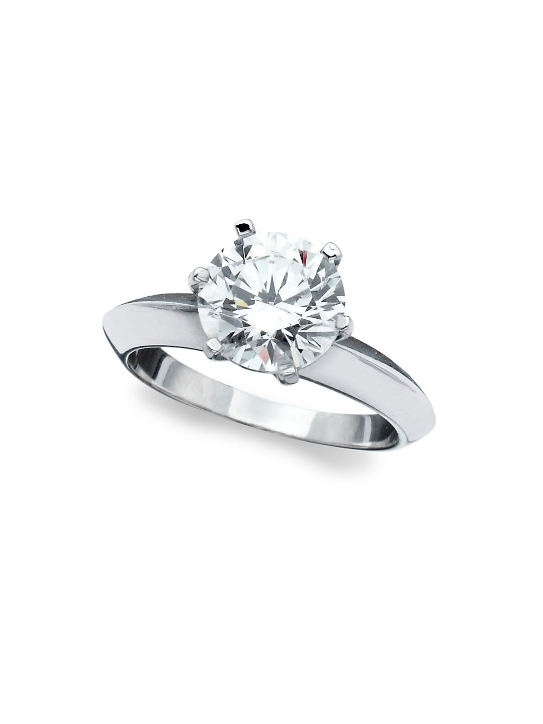 Classic Brilliant Sterling Silver Solitaire Ring