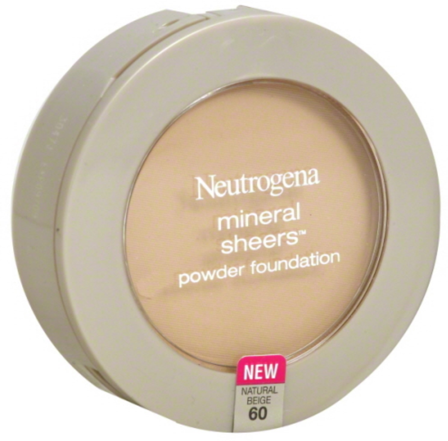 Neutrogena Mineral Sheers Powder Foundation, Natural Beige [60], 0.34 oz (Pack of 2)