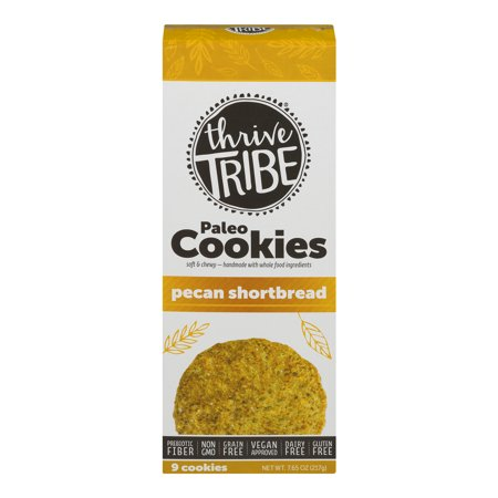 Thrive Tribe Pecan Shortbread Cookies - .85 oz (Vegan Halloween Cookies)