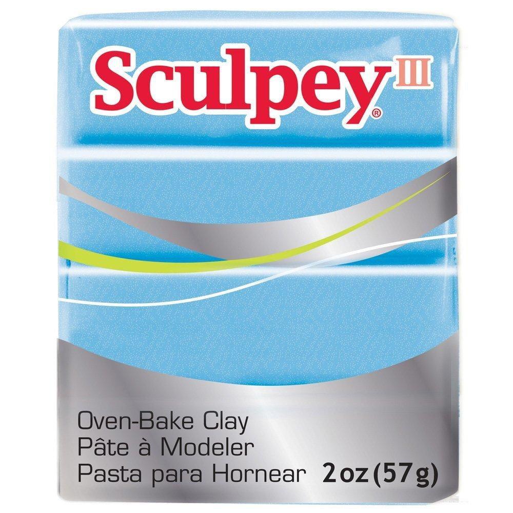 Sculpey III Polymer Clay 2 Ounces-Light Blue Pearl