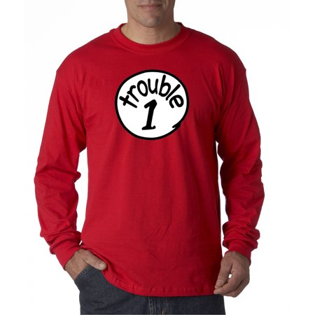 New Way 721 - Unisex Long-Sleeve T-Shirt Trouble 1 One Dr Seuss Thing - Thing 1and Thing 2