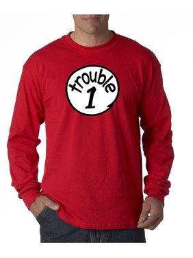 2eeef1a6a Product Image 721 - Unisex Long-Sleeve T-Shirt Trouble 1 One Dr Seuss Thing  Parody