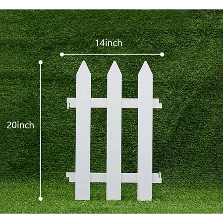 V Protek Plastic Edge Fence Garden PVC Patio Decorative -Insert the Ground Suit for Garden Hotel and Park,White,4 -