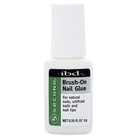 5 Second Brush On Nail Glue 54006 / Treatments by, IBD 5 Second Brush On Nail Glue By IBD 5 Second Nail Glue Bottle