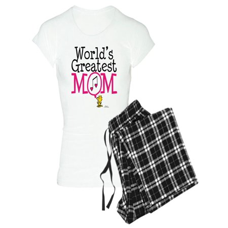 CafePress - Woodstock World's Greatest Mom Pajamas - Women's Light Pajamas