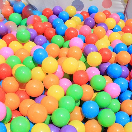Baby Ball Game - 100 Colorful Ocean Ball for Babies Kids Children Soft Plastic Birthday Parties Events Playground Games Pool