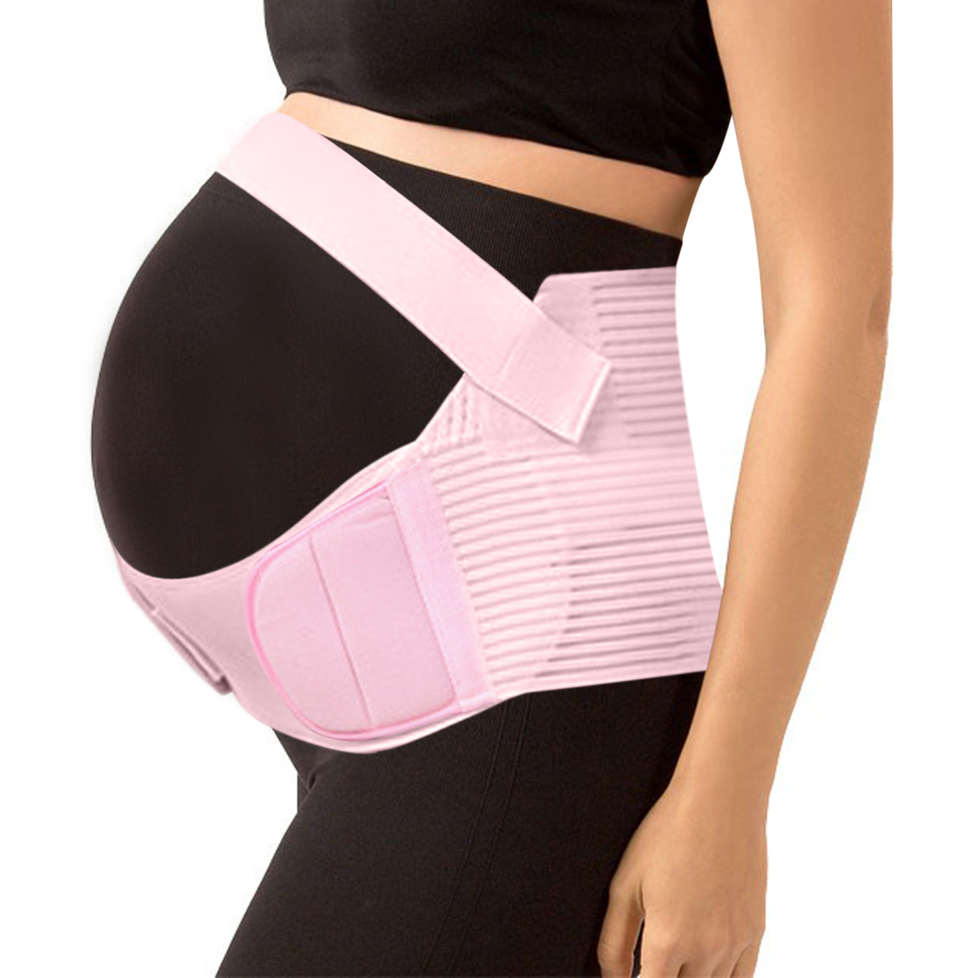 (Pink,L) Maternity Support Belt Pregnancy Belly Band Antepartum Abdominal Back Support