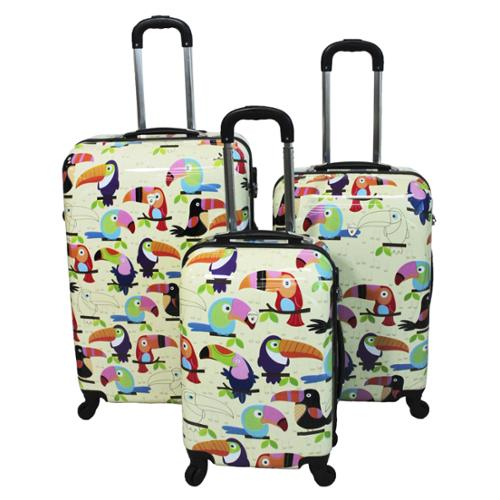 Toucan 3-piece Hardside Lightweight Spinner Luggage Set with Combination Lock