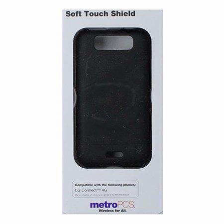 Metropcs 2 Piece Hardshell Slider Case For Lg Connect 4G   Matte Black