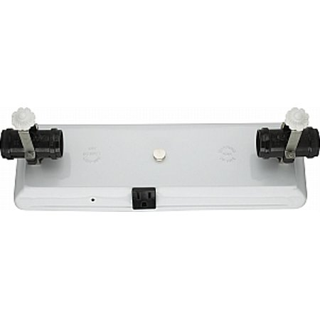 Satco 4 Light U-Channel Glass Holder 4 Light Convenience Outlet for Use with 24in U-Bend - 24in Depth Glass Door