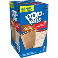 Pop-Tarts Frosted Variety Pack, 48 Toaster Pastries (24 Frosted Strawberry, 24 Frosted Brown Sugar Cinnamon)