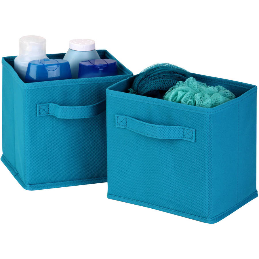 Honey Can Do Mini Non-Woven Foldable Storage Cube, Multicolor (Pack of 6)