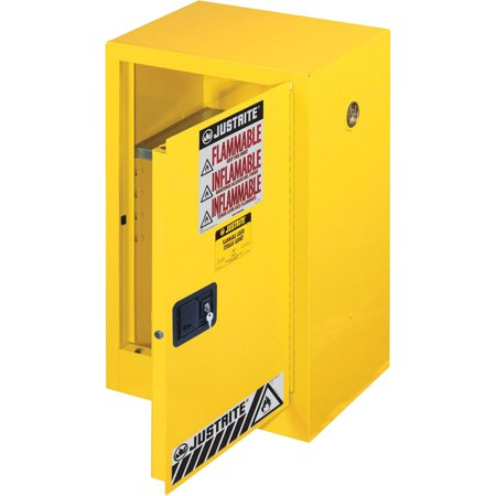 Justrite, JUS891200, Flammable Liquid Cabinet, 1 Each, Yellow