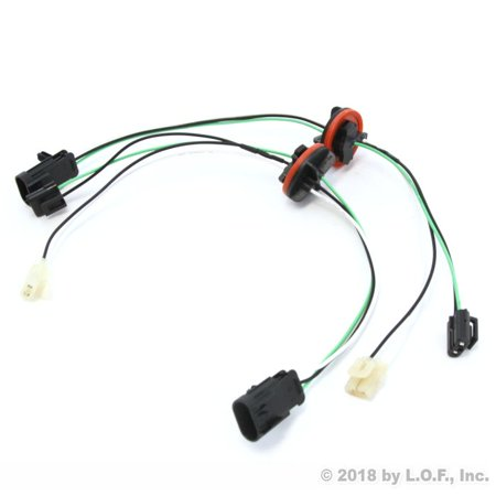 Flame Red Dodge Ram (Red Hound Auto 2 Headlight Lamp Wiring Harnesses Light Wire Pair Compatible with Dodge Ram (2009-2017 1500, 2010-2017 2500/3500/4500/5500) for Quad Halogen Only)