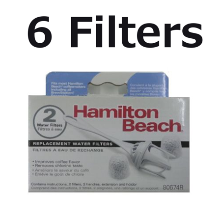 Hamilton Beach Water Filter 80674 for BrewStation and Stay or Go 6 Filters ()
